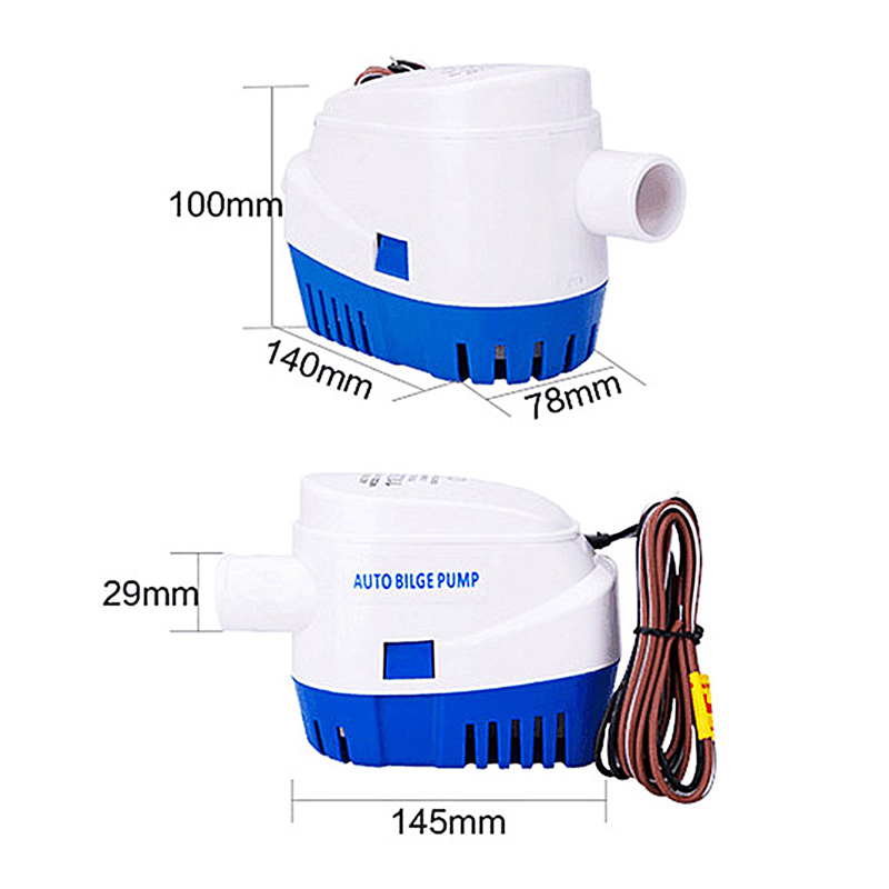 Image 5 - 1100GPH 12V Boat Marine Automatic Submersible Bilge Auto Water Pump Float SwitchPumps   -