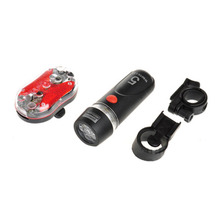 New Bike Lights Kit Bicycle Head Light Torch Tail Light Black Mount free shipping