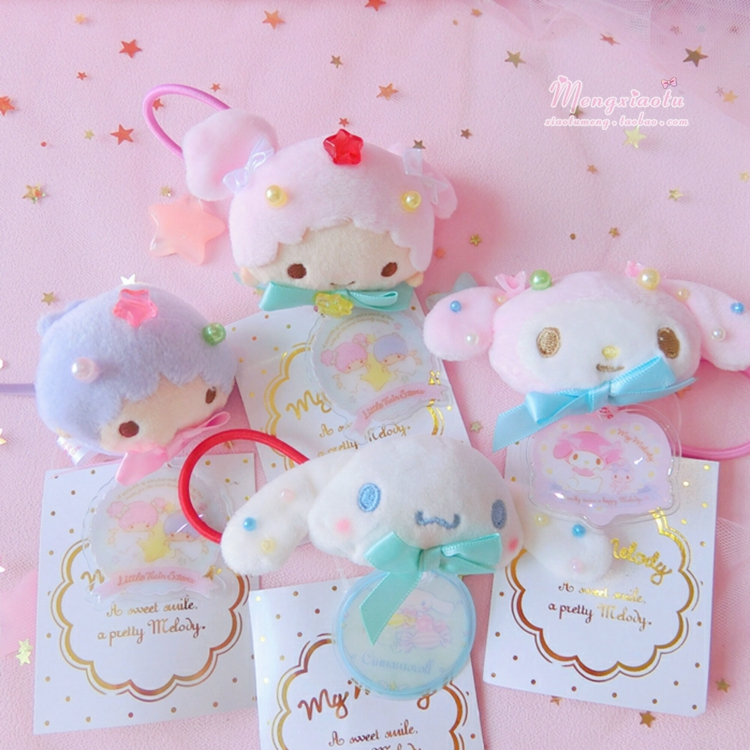Cute 5 Styles Mini Little Twin Stars My Melody Plush Hairband Headwear For Girls Gifts Decoration