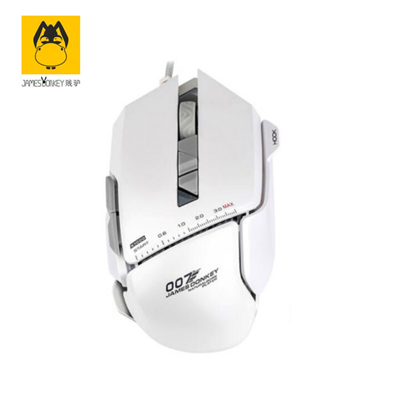 Pearl White James Donkey 119 Wired Mouse Metal Chassis Cool Sports Car Design Chip 007 Internet Version Light Absorption Effect abel james white plague
