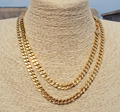Hiphop Hyperbole Rock HIP HOP GOLD GF CHAINS 90cm CUBAN LINK NECKLACE CHAIN 35""