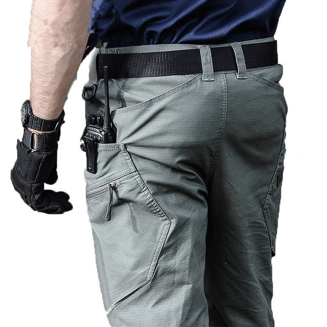 Combat Cotton Pants Rip-stop Cargo Pants SWAT Autumn Casual Long Trousers S-2XL