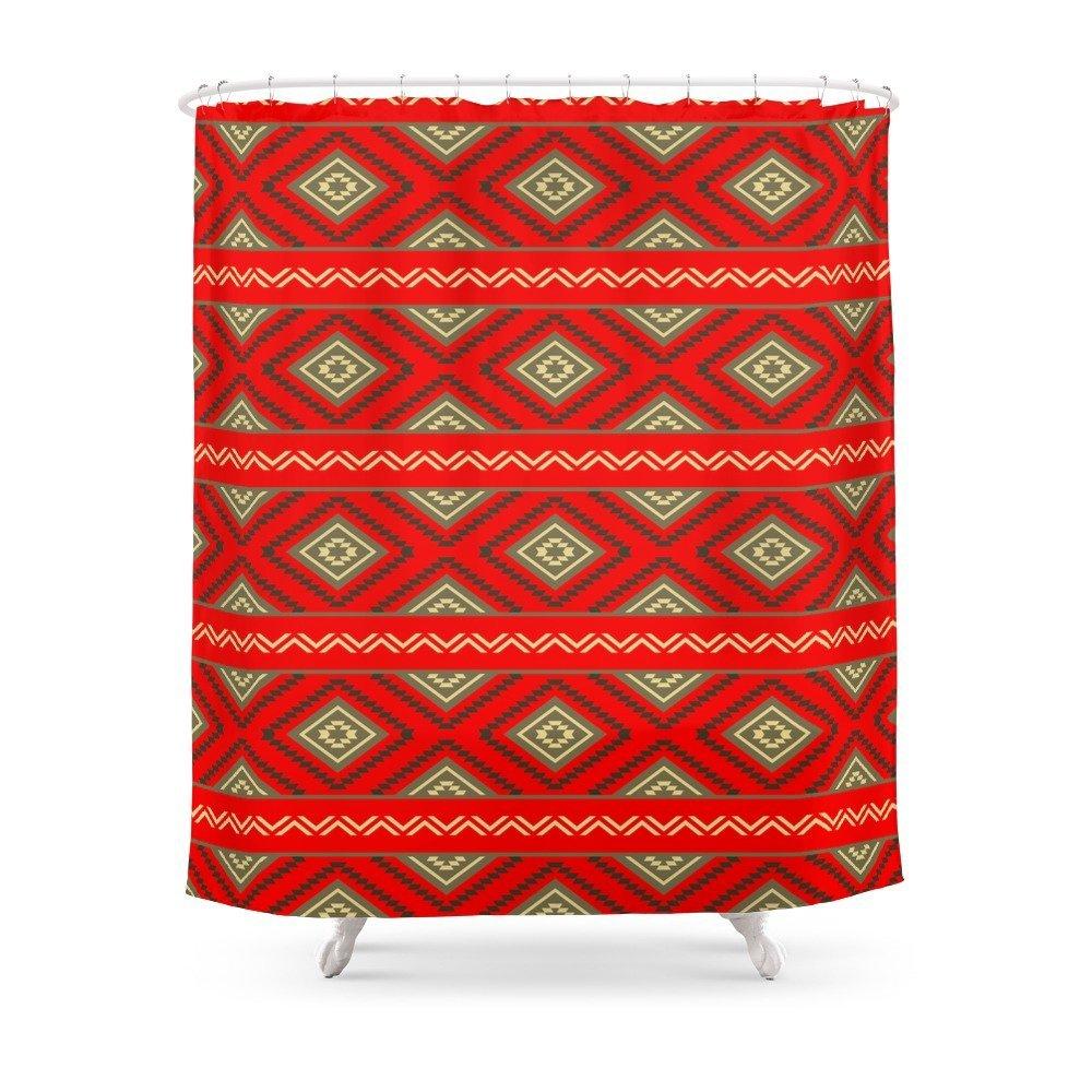 Tribal #6 Ethno Ethnic Aztec Navajo Pattern Boho Chic Shower Curtain Waterproof Bathroom Polyester Fabric Bathroom Curtain