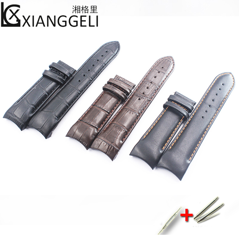 Leather Strap Strap 22mm23mm24mm For Tissot Cool Picture T035 Strap Library Map Leather 1853 Men Watch Band