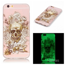 New Fashion Luminous night Slim phone Cases for Apple iphone 6 Plus Fluorescence Soft TPU Silicon Gel back cover skin