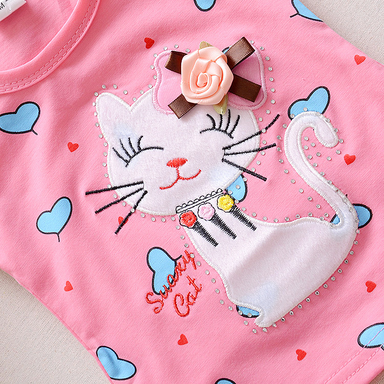 9cef3ad0acc BibiCola baby girls clothing sets Infant clothes toddler children summer  cartoon 2pcs cat love clothes sets girls summer set-in Clothing Sets from  Mother ...