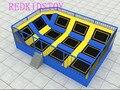 На заказ гимнастический батут парк 8x6x2 5 м для взрослых и детей HZ-LG071