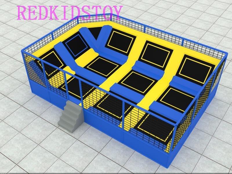 Parc de Trampoline de gymnastique sur mesure 8x6x2.5 m pour HZ-LG071 adultes et enfants