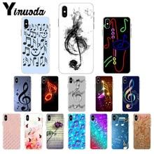 Funda de móvil Yinuoda con nota musical de TPU para el iPhone de Apple 8 7 6 6S Plus X XS MAX 5 5S SE XR