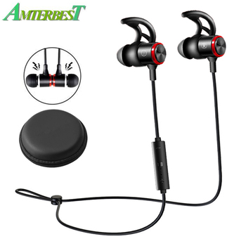 AMTERBEST E3B Wireless Bluetooth V5.0 Headphone Stereo Earphone Magnetic Neckband Sports Bass Headset for IPhone Android XIAOMI
