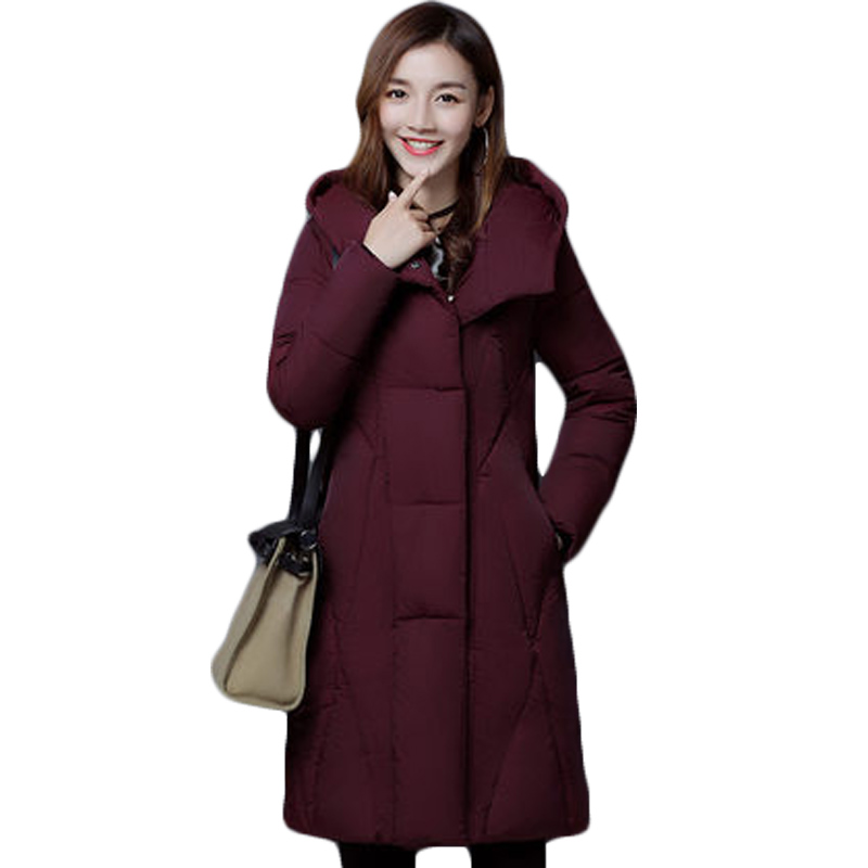 Winter Parka Coat For Women Thick Cotton-Padded Jacket Women's Slim Elegant Hooded Jackets Coats Womens Quilted Coat Warm XH832 стоимость
