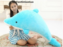 cute blue dolphin plush toy large 120cm cartoon dolphin soft doll throw pillow birthday gift s0888