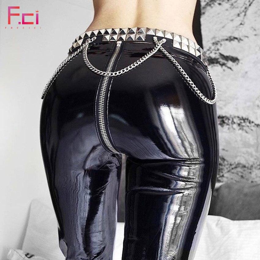 Pu leather Leggings