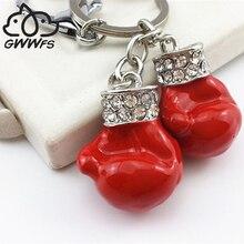 Boxing Gloves Pendant Key Chains For Men Women Silver/Gold Color Alloy Metal Fist Bag Charm Car Keychain Key Ring Holder Trinket