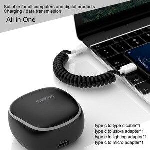 Image 5 - Garas PowerBank PD/QC3.0 para Micro USB/USB tipo C, cargador de batería externo, Cable de resorte