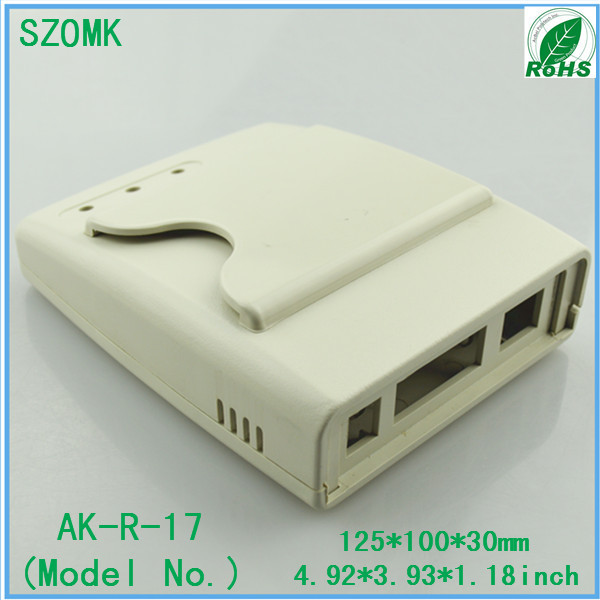 10 pcs, hot selling abs plastic outlet boxes 125*100*30mm IC card reader plastic access sensor enclosure, plastic project box