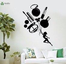 YOYOYU Vinyl Wall Decal Lipstick Mirror Perfume Cosmetic Beauty Salon Interior Art Home Decoration Stickers FD515