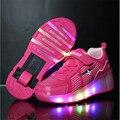 Criança rodas Jazzy, júnior Meninas/Meninos rodas de Luz LED, crianças Sapatas Do Patim De Rolo, caçoa as Sapatilhas Com Rodas Simples