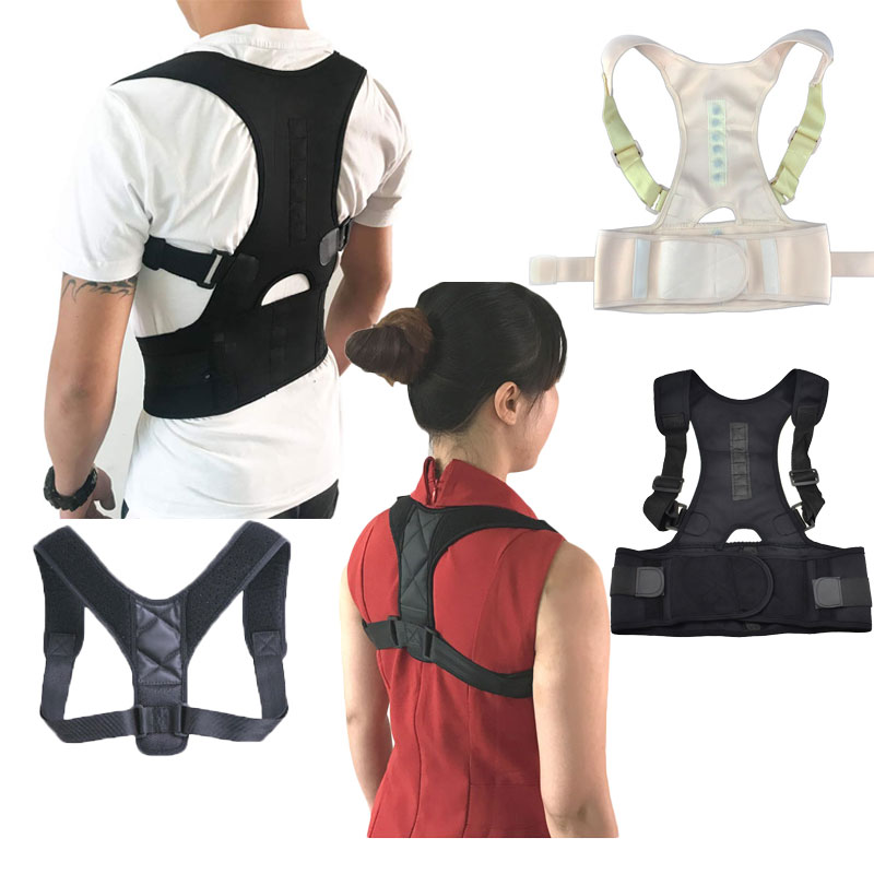Adjustable Back Posture Corrector Brace Clavicle Spine Back Shoulder Lumbar Support Belt Posture Correction Prevents Slouching