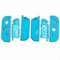 Para Nintendo Controlador de Interruptor Alegria-Con Original Full Habitação Faceplate Case Capa & Battery Placa Médio Quadro Substituição Azul