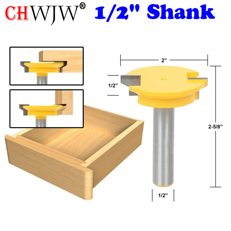 1PC 1/2'' Shank Straight Rail & Stile Router Bit Woodworking Chisel Cutter Tool