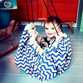 Bolsa de Almacenamiento de Juguete del bebé de La Raya jugar estera Manta de bebé Niños 3 color 140 cm Juego Jugar mat Alfombra Alfombra de Juego Infantil de Regalo de Cumpleaños