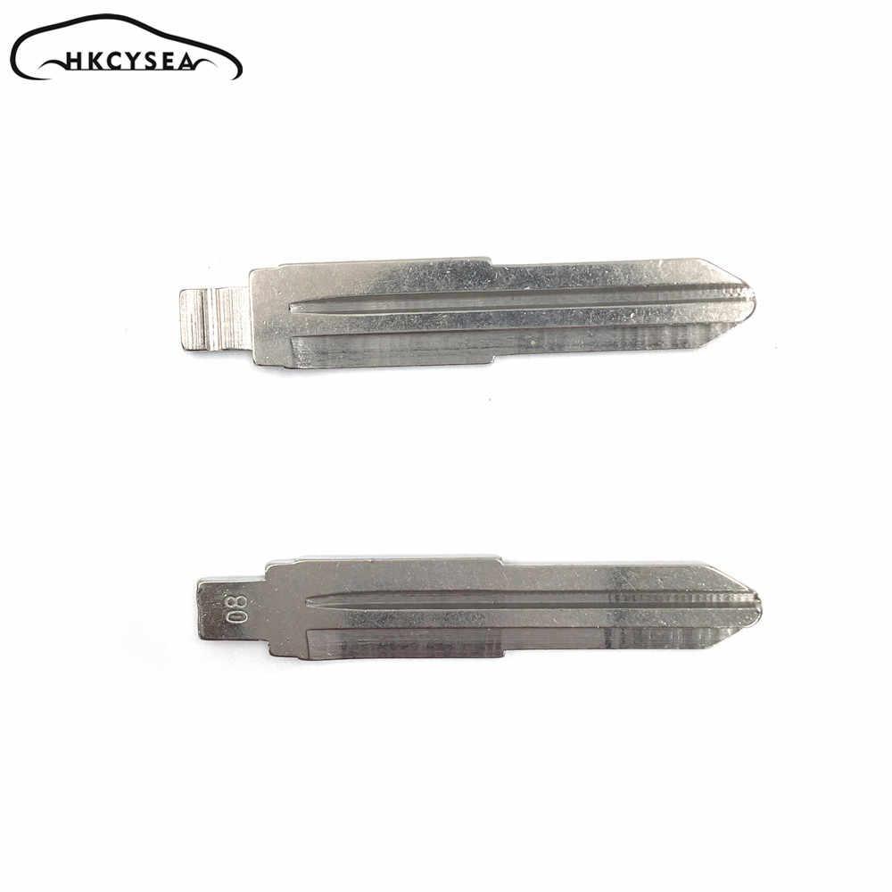 HKCYSEA 10 pcs/lot Metal Blank Uncut Flip KD Remote Key Blade Type #08 for Kia Key Blade NO. 08