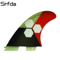 srfda Free shipping surfboard fin 3pcs/set High quality FCS II G5 fins with fiberglass honey comb material 001 size M /G5