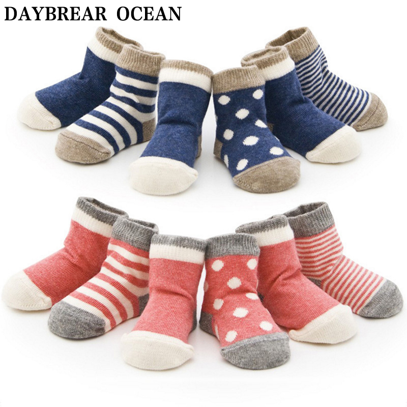 Newborns Baby Fashion Cute 0-3 Year Unisex Soft Cotton Warm Socks For Toddler Spring Autumn Lovely Kids Infant Boys Girls Socks