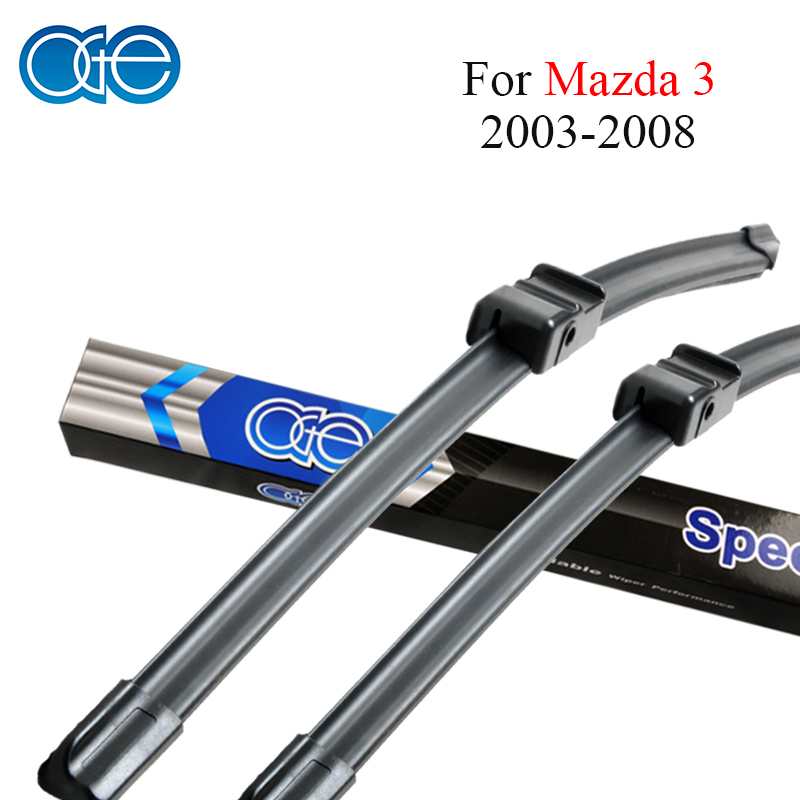 Oge Wiper Blades For <font><b>Mazda</b></font> <font><b>3</b></font> 2003 <font><b>2004</b></font> 2005 2006 2007 2008 Windscreen Rubber Auto Car Accessories image