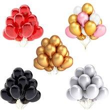 20 шт. золотые, белые, черные, розовые латексные шары для дня рождения, вечеринки, свадьбы, украшения, надувные воздушные шары, детские игрушки, детский шар для душа