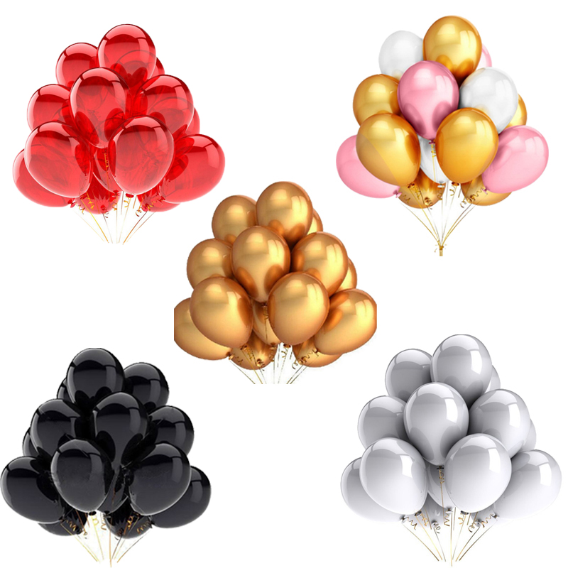 20 pièces or blanc rose Latex ballons joyeux anniversaire fête décoration enfants jouet balle bébé douche Air hélium Globos ballon de mariage