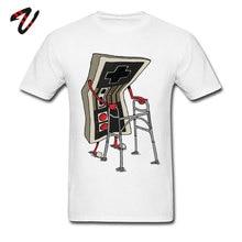 Vieja camiseta de escuela hombres Video juego Vintage camiseta gráfico camisetas y Tops 80s Retro T camisas Arcade Streetwear 100% de algodón