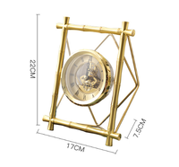 Декоративный столик золотые часы Гостиная Спальня часы украшения творческий ретро настольный руководство Mute Часы Украшения