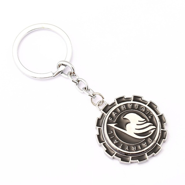 Fairy Tail Key Chain Rotatable Key Rings Holder