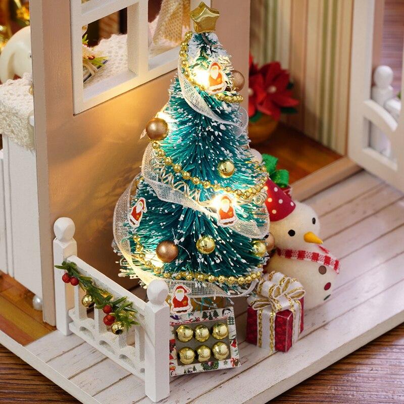 CUTEBEE muesseca casa miniatura Z009 vakansionları ilə DIY mueseces - Uşaq konstruktorları - Fotoqrafiya 5
