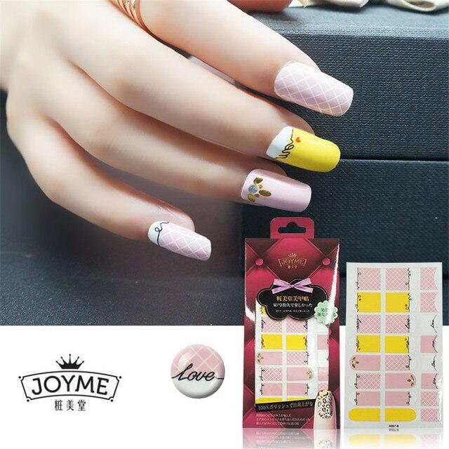 Rosa caliente Manicura Decoración Adhesivos 3D amarillo envoltura de ...