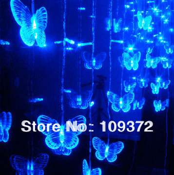 3m redyellowbluewhitegreenpinkpurple led butterfly string fairy light merry christmas decoration outdoor indoor lamps in led string from lights - Blue And White Outdoor Christmas Decorations