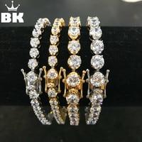 Flower CZ Tennis Bracelet 4mm/6mm Width 8inch NEVER FADE Stainless Steel Micro Paved Cubic Zircon Hip Hop Mens Bracelet Jewelry