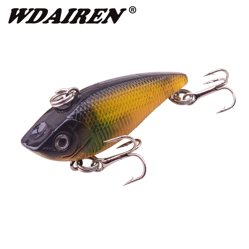 1Pcs Winter VIB vibration Fishing Lure 5cm 6.5g Hard Bait with Lead Inside Ice Sea Fishing Tackle Fly crank Wobbler Lures