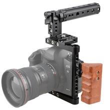 Dslr camera steadicm klatka górny uchwyt drewno grip do canon nikon sony panasonnic najlepszy stabilizator dslr photo studio kit C1175