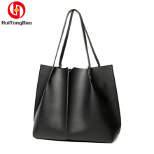 Women Handbag Europe Style High capacity PU Leather Simple Shoulder Quality In Stock