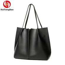 цена на Women Handbag Europe Style High capacity PU Leather Simple Shoulder High Quality In Stock