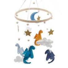 Lovely Dinosaur Aeolian Bells Baby Bed Ornaments Felt Animal Kit Wall Hanging Decor Felt Toy Tiny Dragons Aeolian Bell Craft Kit