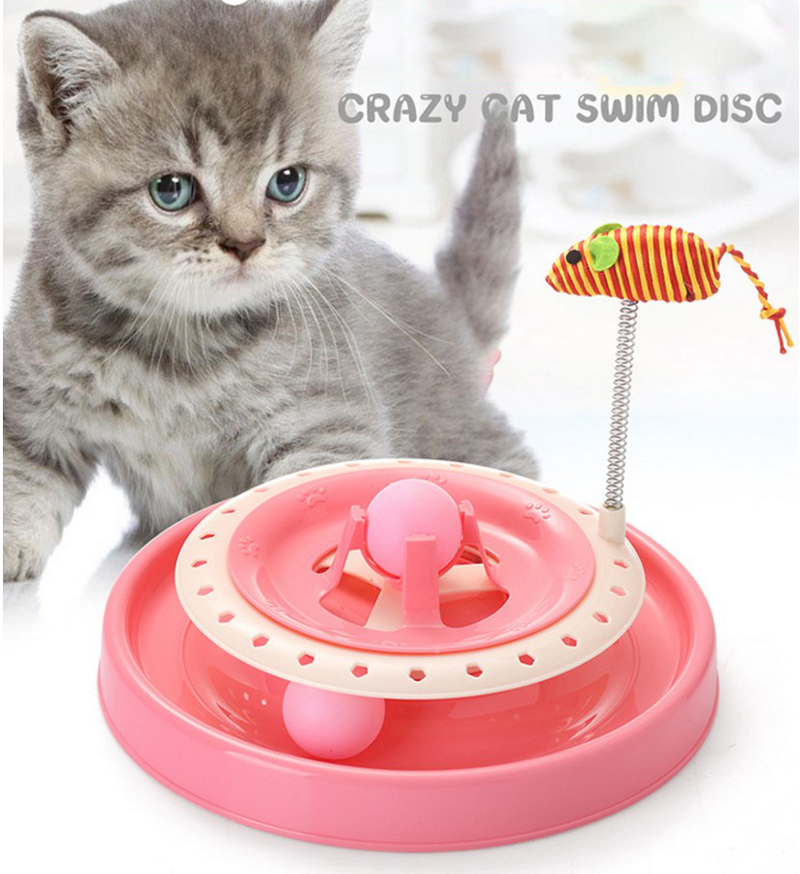 New Pet Cat Toys Single - layer Mice Crazy Amusement Disk Multifunctional Disk Play Activity