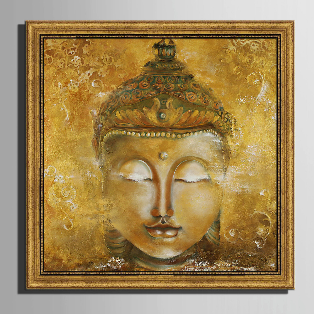 Framed Home Decor Canvas Print Painting Wall Art Buddha: American Style Art Print Framed Canvas Painting Art Buddha