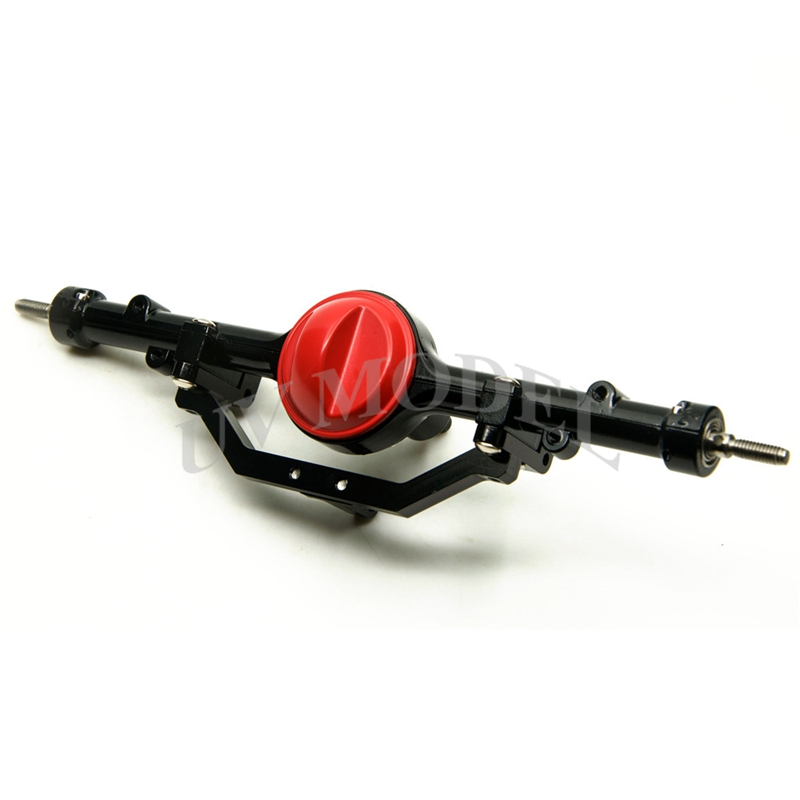 1/10 <font><b>Scale</b></font> High Quality <font><b>Full</b></font> Alloy Rear Red For D90 D110 Axle RC4WD Gelande I <font><b>RC</b></font> Crawler <font><b>Car</b></font>