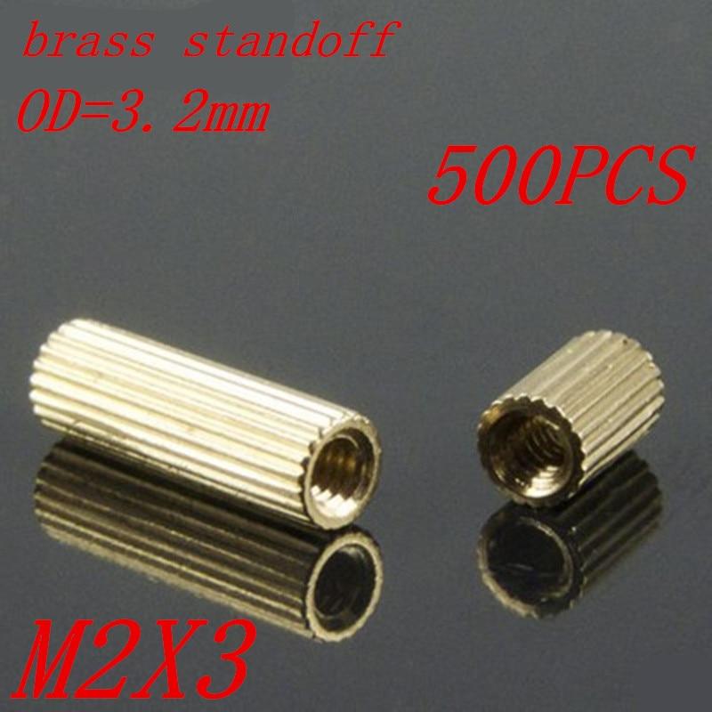 500pcs M2 x 3 M2*3mm brass standoff spacer female to female thread m3 x 50mm female female thread brass hex standoff spacer 10pcs