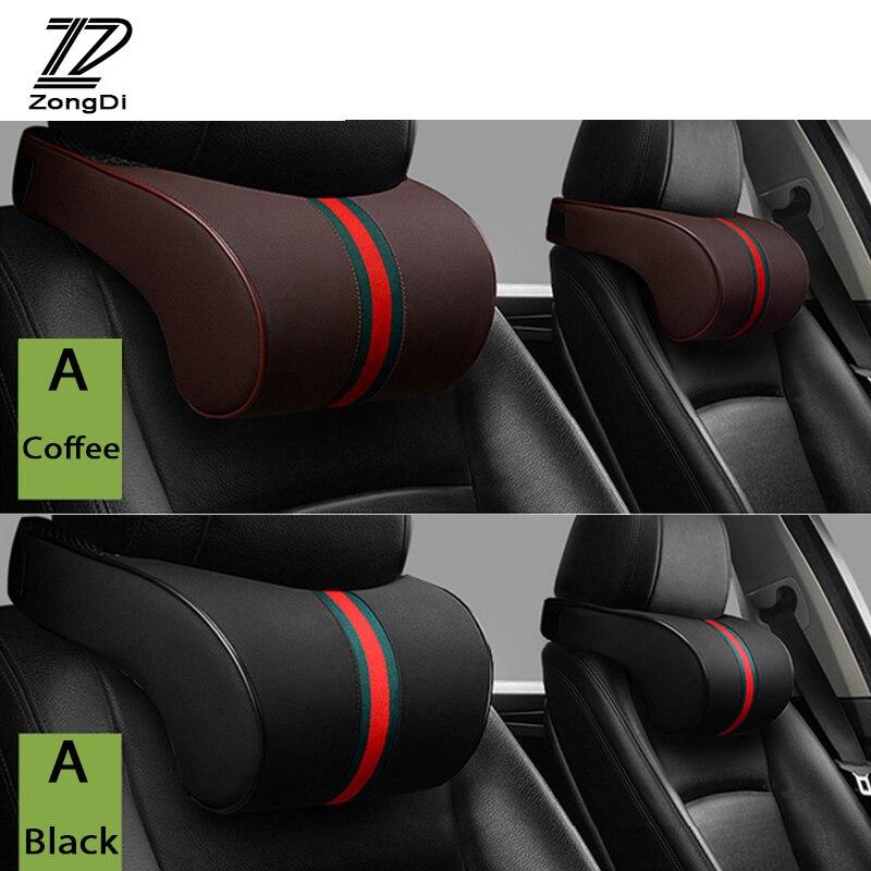 ZD w205 1X Para Mercedes W203 W210 W211 W204 W212 Benz BMW F10 F20 E30 E34 X5 E70 descanso da Garganta Do Carro Três cores primárias encosto de cabeça