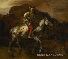 The Polish Rider Rembrandt van Rijn reproduction art High quality Handpainted